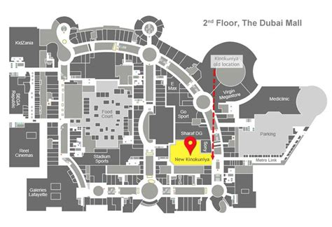 Dubai Mall Map Kinokuniya Book Store In Dubai Mall Has A New Home What