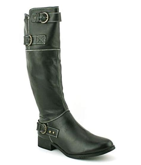 zoe cowboy knee length flat leather boots buy s