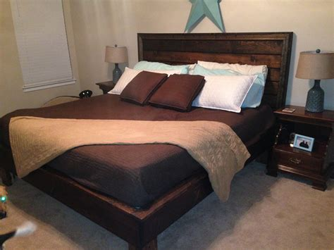 ana white bed ana white king sized hailey bed customized diy projects