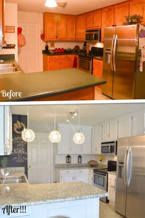 design notes kitchen makeover on a budget counters and tile kitchen makeover on a budget remodel your cabinets and