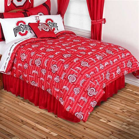 ohio state bed set ohio state buckeyes comforter all over print blanket