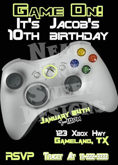 5 x 7 printable birthday invitation gaming