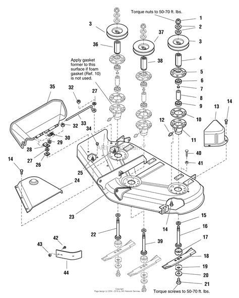 44 parts diagram simplicity 1693796 44 quot mower deck parts diagram for 44
