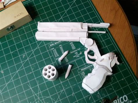 How To Make A Paper Wars Gun - trigun vash s colt 45 finished