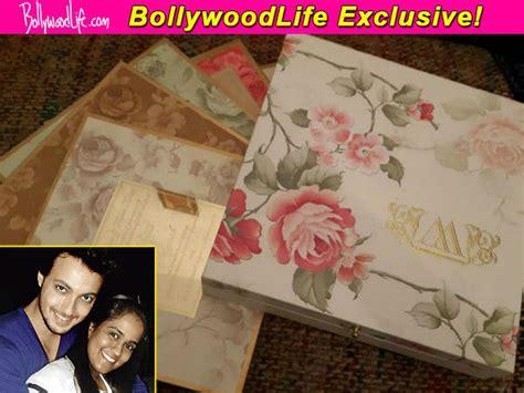 arpita khan wedding card pics take a look at salman khan s arpita khan s wedding