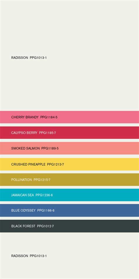voice of color color crush paint color harmony palette by ppg voice of color