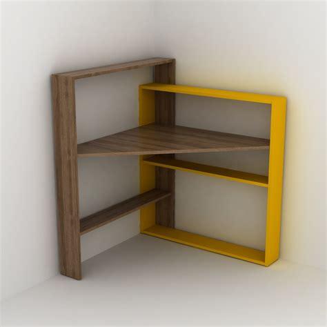 scrivania con mensole geometry scrivania angolare con mensole libreria salvaspazio