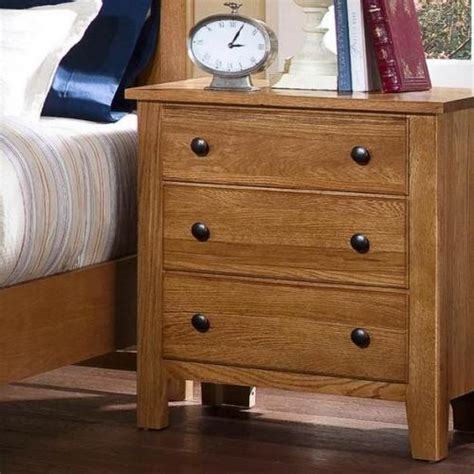 Light Oak Nightstand Simply Oak Stand 3 Drawers Light Oak Finish 312 227 Stands Parrott S
