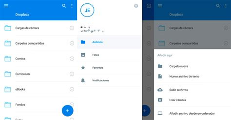 dropbox apk dropbox se actualiza con material design apk