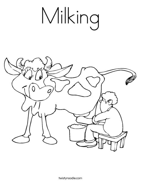 Milking Cow Coloring Page | milking coloring page twisty noodle
