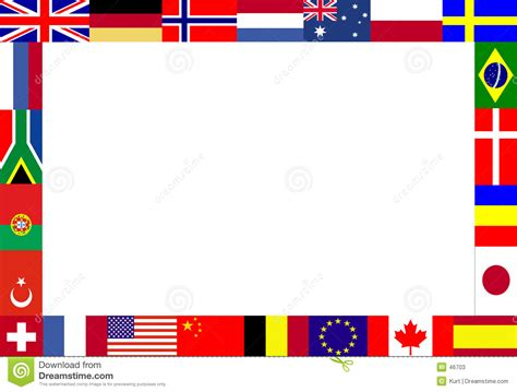 flags of the world page border flag border printable flags