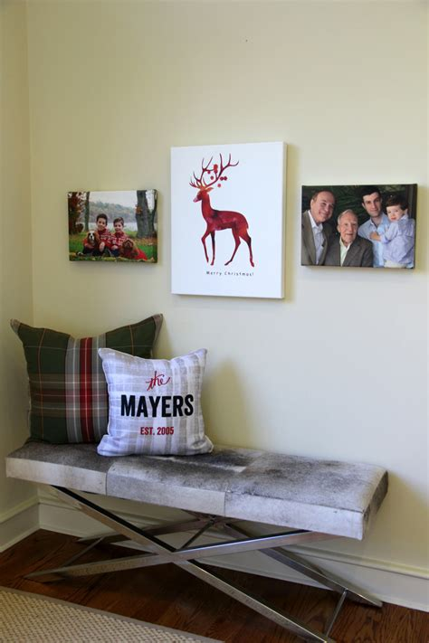 shutterfly home decor personalizing your home for the holidays with shutterfly