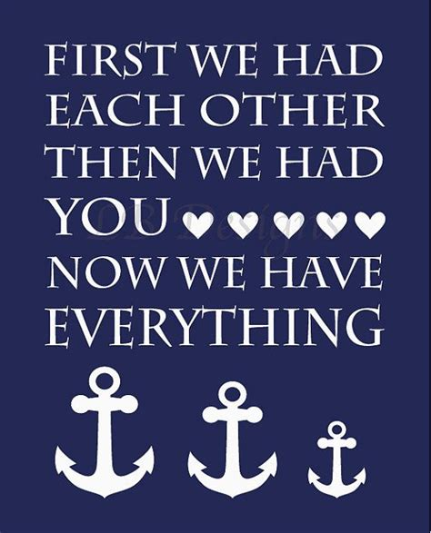 Anchor Print Inspirational Print Quot - navy blue and white anchor family nautical nursery print 8x10
