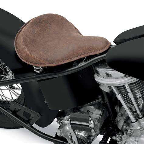 distressed brown leather motorcycle seat drag specialties large seat with distressed