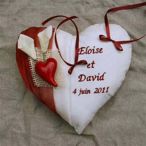 coussin mariage alliance coussin alliance mariage coeur