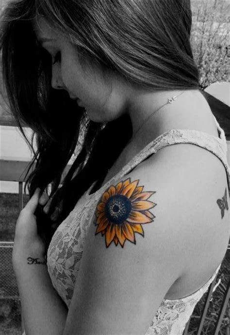 30 cool sunflower tattoos for inspiration designlint