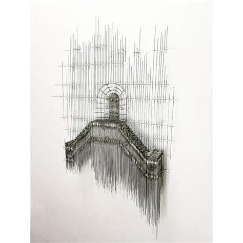 Three D Sketches by Artist Creates Architectural 3d Sketch Like Wire Sculptures