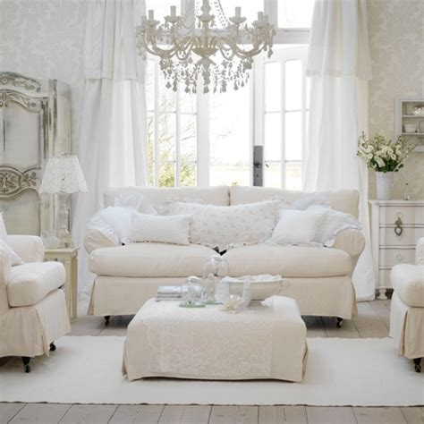 White Shabby Chic Living Room Furniture 37 Shabby Chic Living Room Designs Decoholic