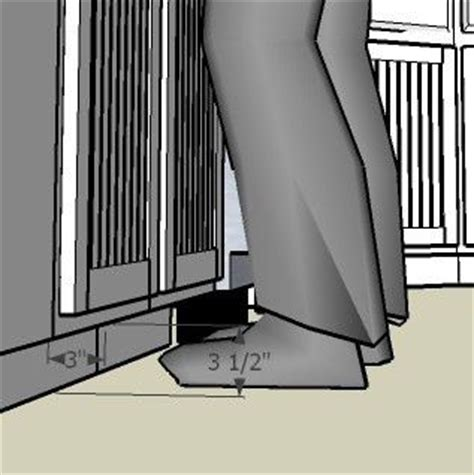 cabinet toe kick dimensions best toe kick dimensions for cabinet design