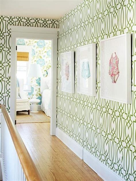 green wallpaper hallway 5 ways to decorate with bold pattern