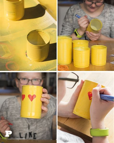 spray paint emoji make emoji tin can pencil holders pysselbolaget