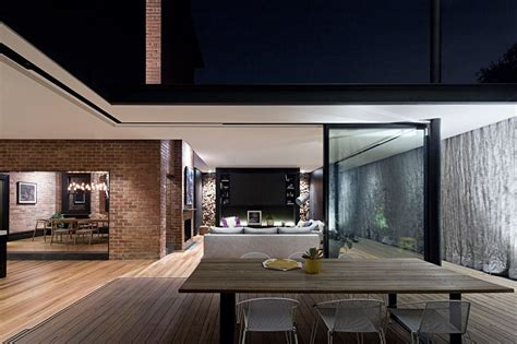 the curtain house melbourne melbourne house extension uses steel mesh curtain in place