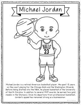 michael jordan biography pdf download biography coloring page craft companion activity dr