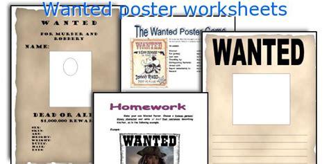 poster design worksheet english teaching worksheets wanted poster