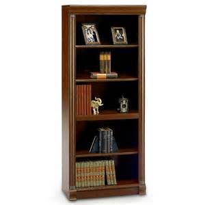 walmart bookshelves bush birmingham executive 5 shelf bookcase harvest cherry