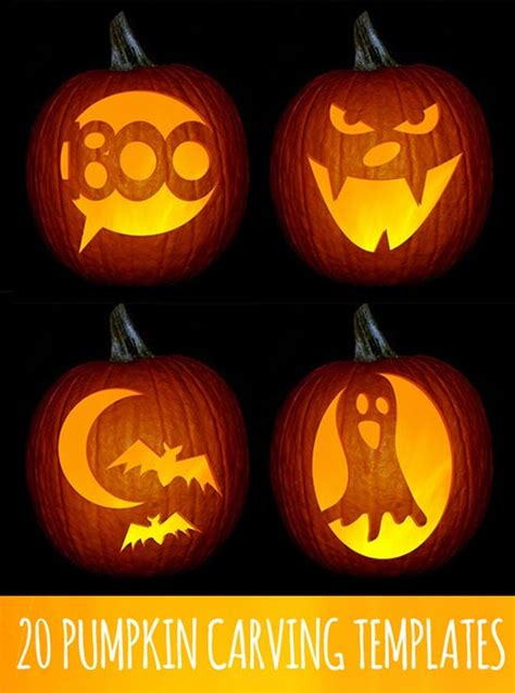 pumpkin designs for free 20 pumpkins carving and decor ideas for home