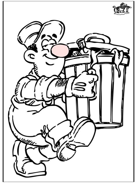 Müllmänner - Ausmalbilder Übriges