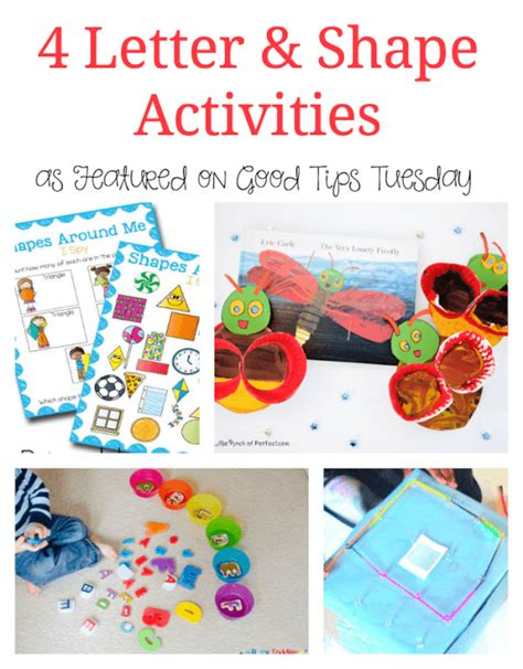 Four Letter Shapes 4 letter and shape activities
