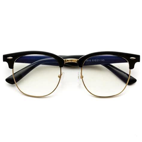 Half Glasses Sunglasses half frame semi rimless retro style gold rimmed sunglasses