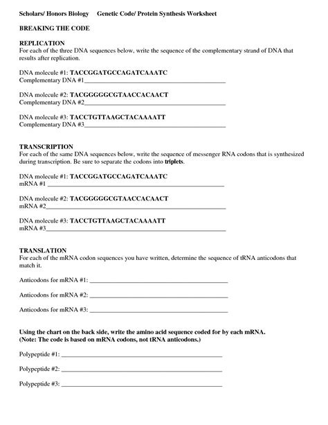 Worksheet On Dna Rna And Protein Synthesis by 16 Best Images Of Protein Biology Worksheet Protein