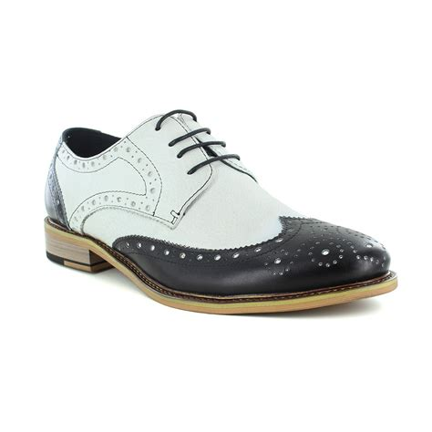 two tone mens shoes justin reece churchill mens two tone lace up brogue shoe