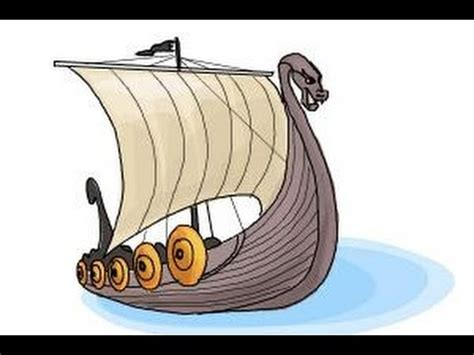 how to draw a easy viking boat how to draw a viking ship youtube