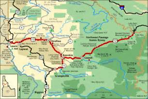 northwest passage scenic byway map america s byways