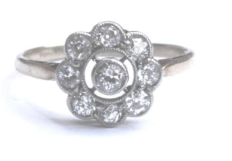 antique cluster engagement ring