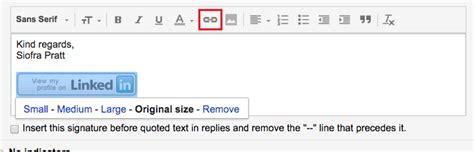 gmail reset link how to add a linkedin button to your gmail signature