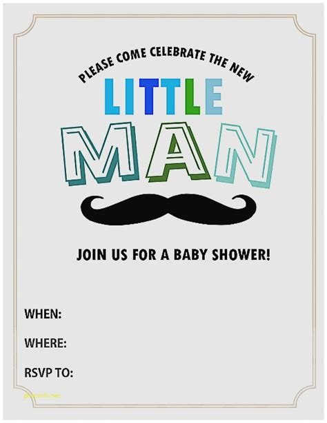 baby shower invitation lovely free mustache baby shower