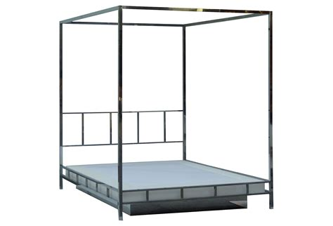 chrome bed chrome four poster bed cool milo baughman style polished
