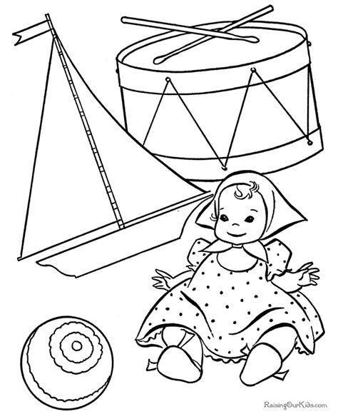 printable christmas toys coloring pages 005