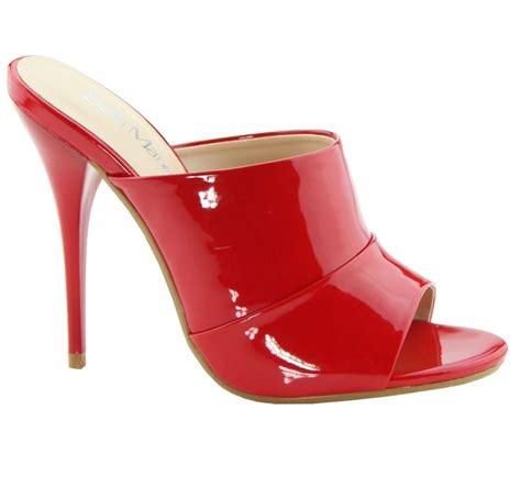 high heel slide new patent high heel slide mule stiletto open toe