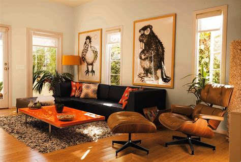 And Orange Living Room by Living Room Decor With Orange And Brown Room Decorating
