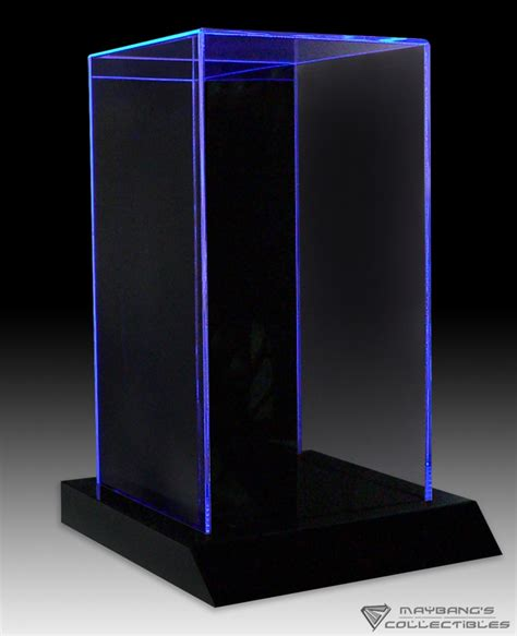 led light window display 3 color led lighted display case for toys 12 quot figure