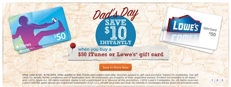 Lowes Gift Card Where To Buy - 20 off lowes and itunes gift cards frequent miler