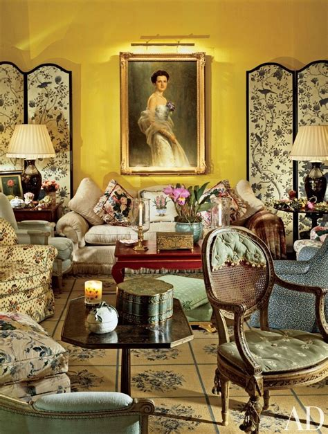 Chintz Room by Chintz Symmetry Traditional Living Room By Mario Buatta