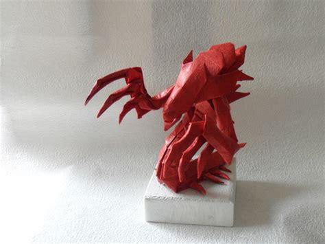 Origami Hydralisk - world of warcraft starcraft and other origami