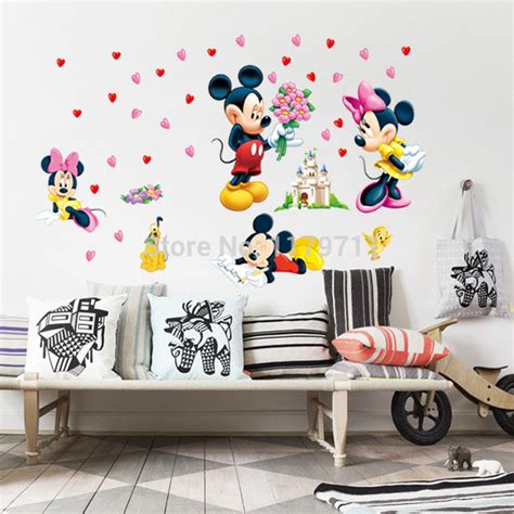 home decor for kids mickey mouse and minnie mouse wall sticker home decor