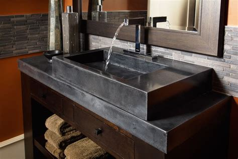 cement countertops black polished concrete countertop cocina pinterest